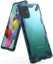 Ringke Fusion X Samsung Galaxy A51 Hoesje Transparant/Blauw