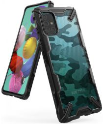 Ringke Fusion X Samsung Galaxy A51 Hoesje Camo Design Zwart