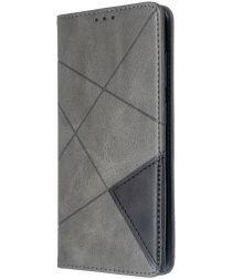 Samsung Galaxy S20 Hoesje Geometrie Portemonnee Grijs