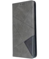Samsung Galaxy S20 Plus Hoesje Geometrie Portemonnee Grijs
