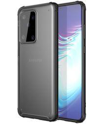Samsung Galaxy S20 Ultra Hoesje Slim Fit Hybride Transparant/Zwart