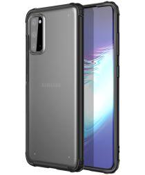 Samsung Galaxy S20 Hoesje Slim Fit Hybride Transparant/Zwart