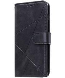 Samsung Galaxy S20 Plus Hoesje Wallet Book Case Voor Pasjes Line Zwart