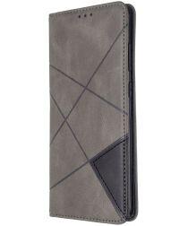 Samsung Galaxy S20 Ultra Hoesje Geometrie Portemonnee Grijs