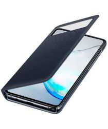 Origineel Samsung Galaxy Note 10 Lite Hoesje S-View Wallet Cover Zwart