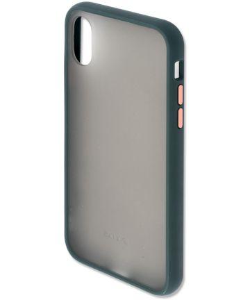 4smarts MALIBU Transparante Apple iPhone X(S) Back Cover Groen