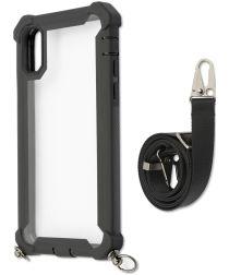 4smarts Sling Downtown Apple iPhone XS / X Hoesje met Key Koord Zwart
