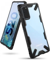 Ringke Fusion X Samsung Galaxy S20 Hoesje Transparant/Zwart