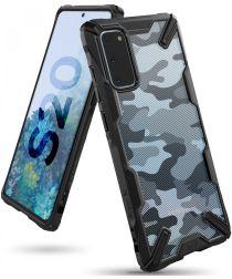 Ringke Fusion X Samsung Galaxy S20 Hoesje Camo Design Zwart