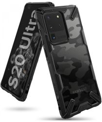 Ringke Fusion X Samsung Galaxy S20 Ultra Hoesje Camo Design Zwart