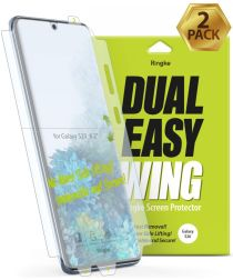 Ringke Dual Easy Wing Samsung Galaxy S20 Screenprotector (Duo Pack)
