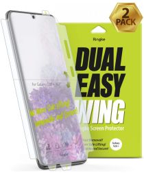 Ringke Dual Easy Wing Samsung S20 Plus Screenprotector (Duo Pack)
