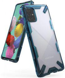 Ringke Fusion X Samsung Galaxy A71 Hoesje Transparant/Blauw