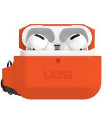 Urban Armor Gear Apple AirPods Pro Hoesje Siliconen Oranje/Zwart