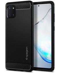 Spigen Rugged Armor Samsung Galaxy Note 10 Lite Hoesje Zwart
