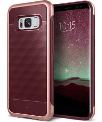 Caseology Parallax Samsung Galaxy S8 Plus Hoesje Burgundy