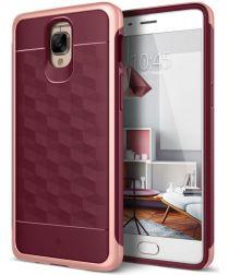 Caseology Parallax OnePlus 3T Hoesje Burgundy