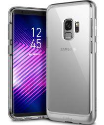 Caseology Skyfall Samsung Galaxy S9 Hoesje Transparant/Zilver