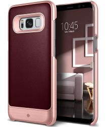 Caseology Fairmont Samsung Galaxy S8 Plus Hoesje Burgundy