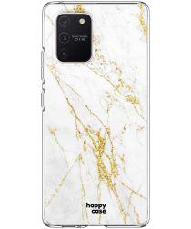 HappyCase Samsung Galaxy S10 Lite Hoesje TPU Wit Marmer Print