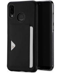 Dux Ducis Pocard Series Huawei P20 Lite Hoesje Zwart