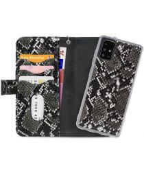 Mobilize Gelly Wallet Zipper Samsung Galaxy A51 Hoesje Black Snake
