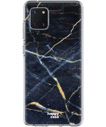 HappyCase Samsung Galaxy Note 10 Lite Hoesje TPU Donker Marmer Print