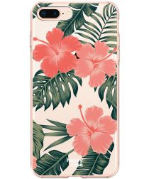HappyCase Apple iPhone 8 Plus Flexibel TPU Hoesje Tropic Vibe print