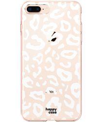 HappyCase Apple iPhone 8 Plus Flexibel TPU Hoesje Luipaard Print