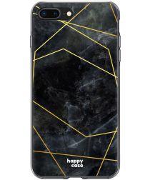 HappyCase Apple iPhone 8 / 7 Plus Hoesje TPU Zwart Marmer Print