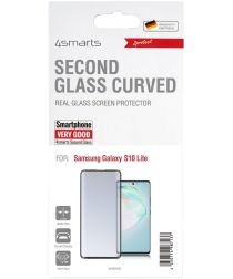 4smarts Second Glass Curved Samsung S10 Lite Screen Protector Zwart