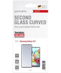 4smarts Second Glass Curved Samsung A71 Screen Protector Zwart