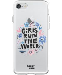 HappyCase Apple iPhone 8 Flexibel TPU Hoesje Quote Print
