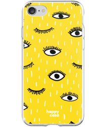HappyCase Apple iPhone 8 Flexibel TPU Hoesje Happy Eyes Print