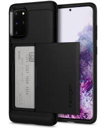Spigen Slim Armor Card Holder Case Samsung Galaxy S20 Plus Zwart