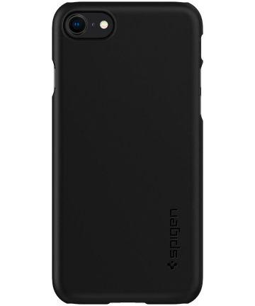 Spigen Thin Fit Apple iPhone SE (2020) Hoesje Zwart