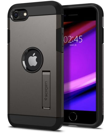 Spigen Tough Armor Apple iPhone SE (2020) Hoesje Gunmetal Hoesjes