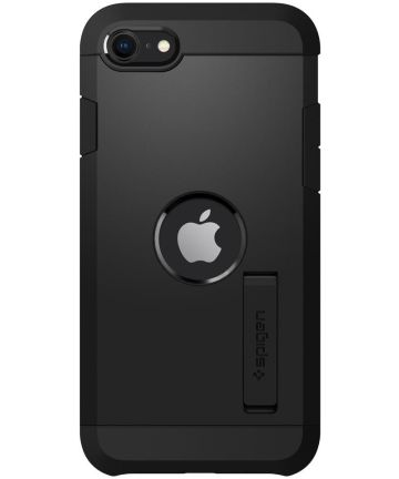 Spigen Tough Armor Apple iPhone SE (2020) Hoesje Zwart