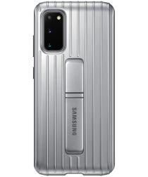 Origineel Samsung Galaxy S20 Hoesje Protective Standing Cover Zilver