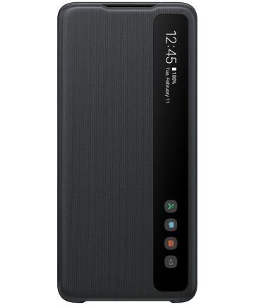 Origineel Samsung Galaxy S20 Ultra Hoesje Clear View Cover Zwart