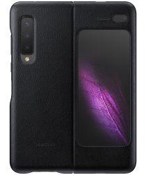 Origineel Samsung Galaxy Fold Hoesje Leather Cover Zwart