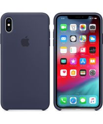 Originele Apple iPhone Xs Max Silicone Case Midnight Blue