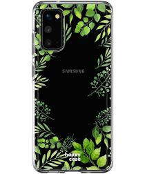 HappyCase Samsung Galaxy S20 Hoesje Flexibel TPU Leaves Print