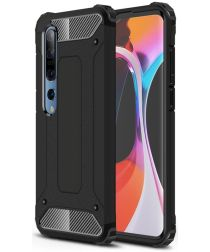 Xiaomi Mi 10 / Mi 10 Pro Hoesje Shock Proof Hybride Back Cover Zwart