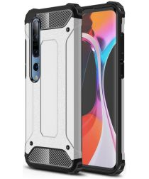 Xiaomi Mi 10 / Mi 10 Pro Hoesje Shock Proof Hybride Back Cover Zilver