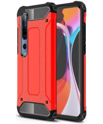 Xiaomi Mi 10 / Mi 10 Pro Hoesje Shock Proof Hybride Back Cover Rood