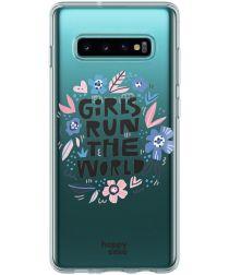 HappyCase Samsung Galaxy S10 Hoesje Flexibel TPU Quote Print