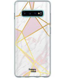 HappyCase Samsung Galaxy S10 Hoesje Flexibel TPU Roze Marmer Print
