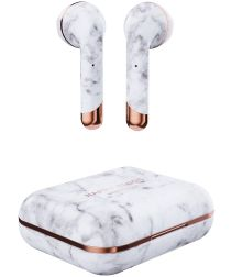 Happy Plugs Air 1 True Wireless Draadloze Oordopjes Wit Marmer