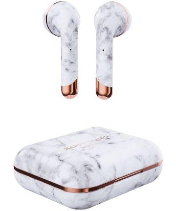 Happy Plugs Air 1 True Wireless Draadloze Oordopjes Wit Marmer Headsets